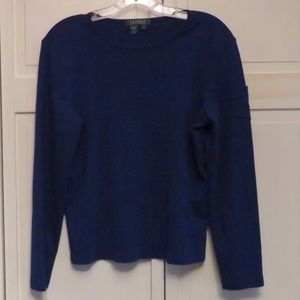 Ralph Lauren Lauren Blue Long Sleeve Top